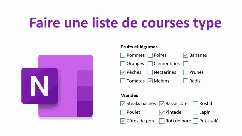 Read more about the article Faites votre liste de courses type dans OneNote