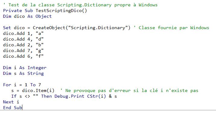 Développement VBA Excel code spécifique Windows