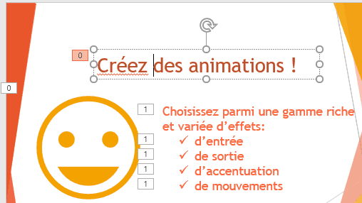 Ordre des animations PowerPoint