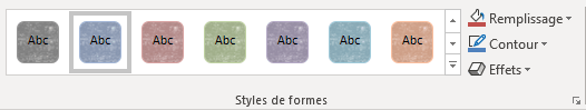 styles de formes de Word